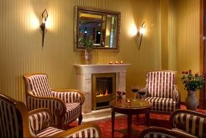 Das Hotel Landhaus Dierkow in Rostock - die Foyer-Bar